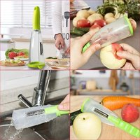 Peeler with Container