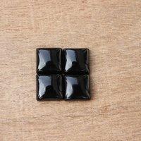 4mm Black Onyx Square Cabochon Loose Gemstones