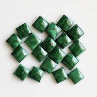6mm Malachite Square Cabochon Loose Gemstones