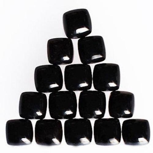 12mm Black Onyx Square Cabochon Loose Gemstones