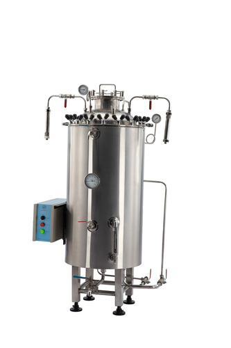 Steri Semi automatic vertical cylindrical Steam Sterilizer