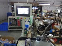 High speed automatic hook and eye tape sewing machine