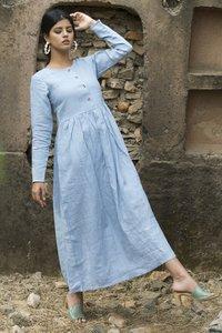 Sky Blue Ladies Dress