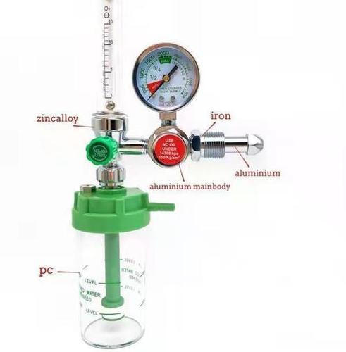 Oxygen Regulator With Bpc Flow Meter And Humidifier Bottle