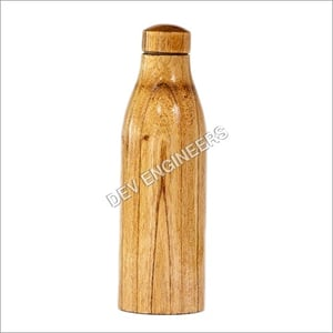 Natural Wood Copper Water Bottle