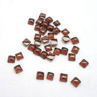 4mm Mozambique Garnet Square Cabochon Loose Gemstones