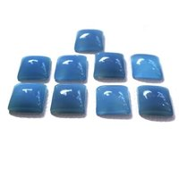 7mm Blue Chalcedony Square Cabochon Loose Gemstones