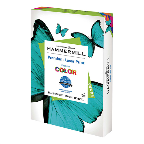 11 inch x 17 inch, 24lb, 98-Bright, 500 Sheets Hammermill Laser Print Office Paper