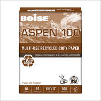 Letter, 20lb, 92-Bright, 10 Reams of 500 Sheets Boise Aspen 100, 100% Recycled Printer Paper