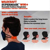 Wildcraft SUPERMASK W95 Plus Reusable Outdoor Respirator - POPCORN