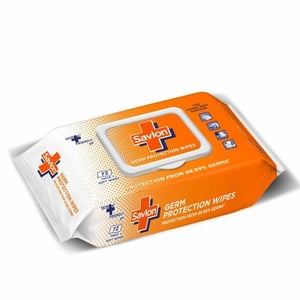 Savlon Germ Protection Multipurpose Thick & Soft Wet Wipes with Fliptop lid - 72 Wipes
