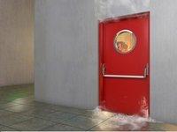 Red Fire Prevention Door