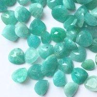 5mm Amazonite Faceted Heart Loose Gemstones