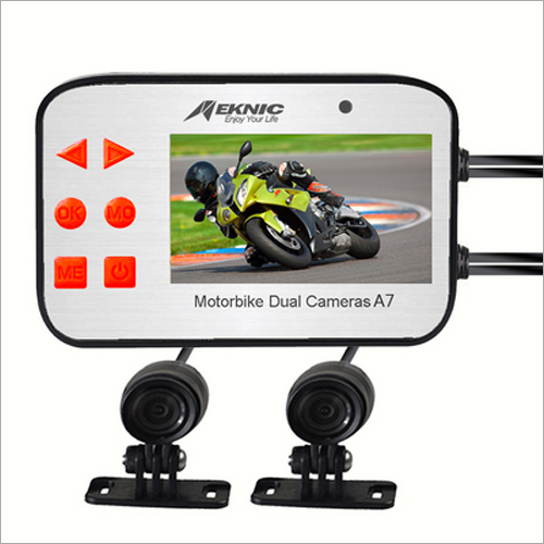 A7 Motorcycle Camera Dual Lens 1080P Video Security Motorbike Camera System With 2.7