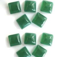 7mm Green Chalcedony Square Cabochon Loose Gemstones