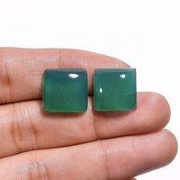8mm Green Chalcedony Square Cabochon Loose Gemstones
