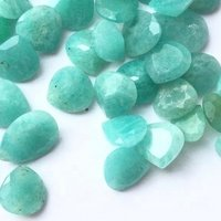 6mm Amazonite Faceted Heart Loose Gemstones