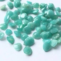 8mm Amazonite Faceted Heart Loose Gemstones