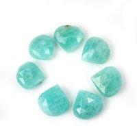 11mm Amazonite Faceted Heart Loose Gemstones