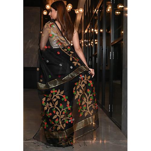 Rasum Moslin Jamdani Saree with Blouse Piece