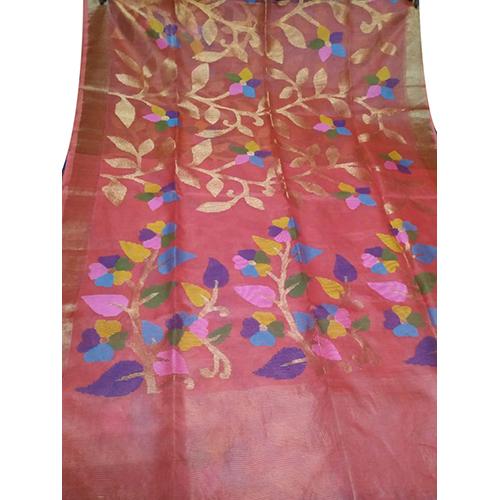 Narangi Jamdani Saree