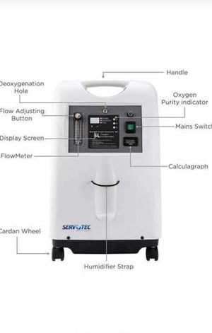 Oxygen Concentrator Single Flow, Operation: Electrical