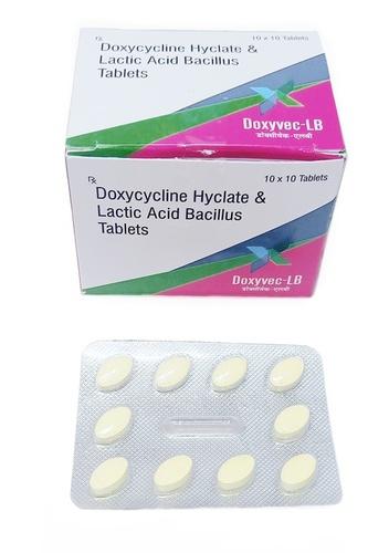 Doxycycline Hyclate 100mg & Lactic Acid Bacillus Tablets