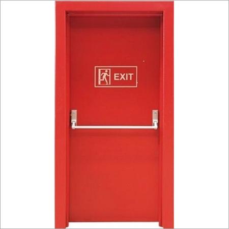 Red Manual Open Fire Retardant Door