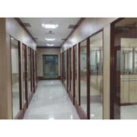 Office Wooden and Glass Partition