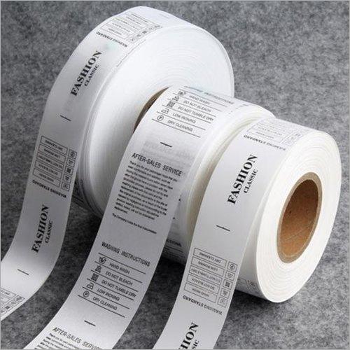 Taffeta Wash Care Label