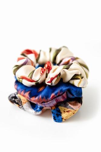 Silk Printed Scrunchies