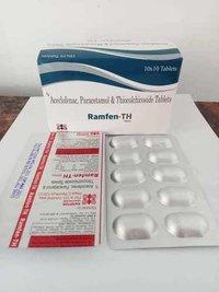Aceclofenac 100mg + Paracetamol 325mg + Thiocolchicoside 4mg