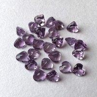 4mm Brazil Amethyst Faceted Heart Loose Gemstones