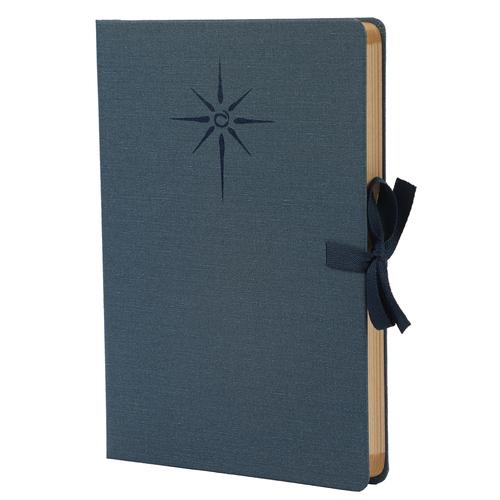 Comma Artisan  A5 Size  Hard Bound Notebook (Navy Blue)