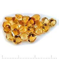 8mm Citrine Faceted Heart Loose Gemstones