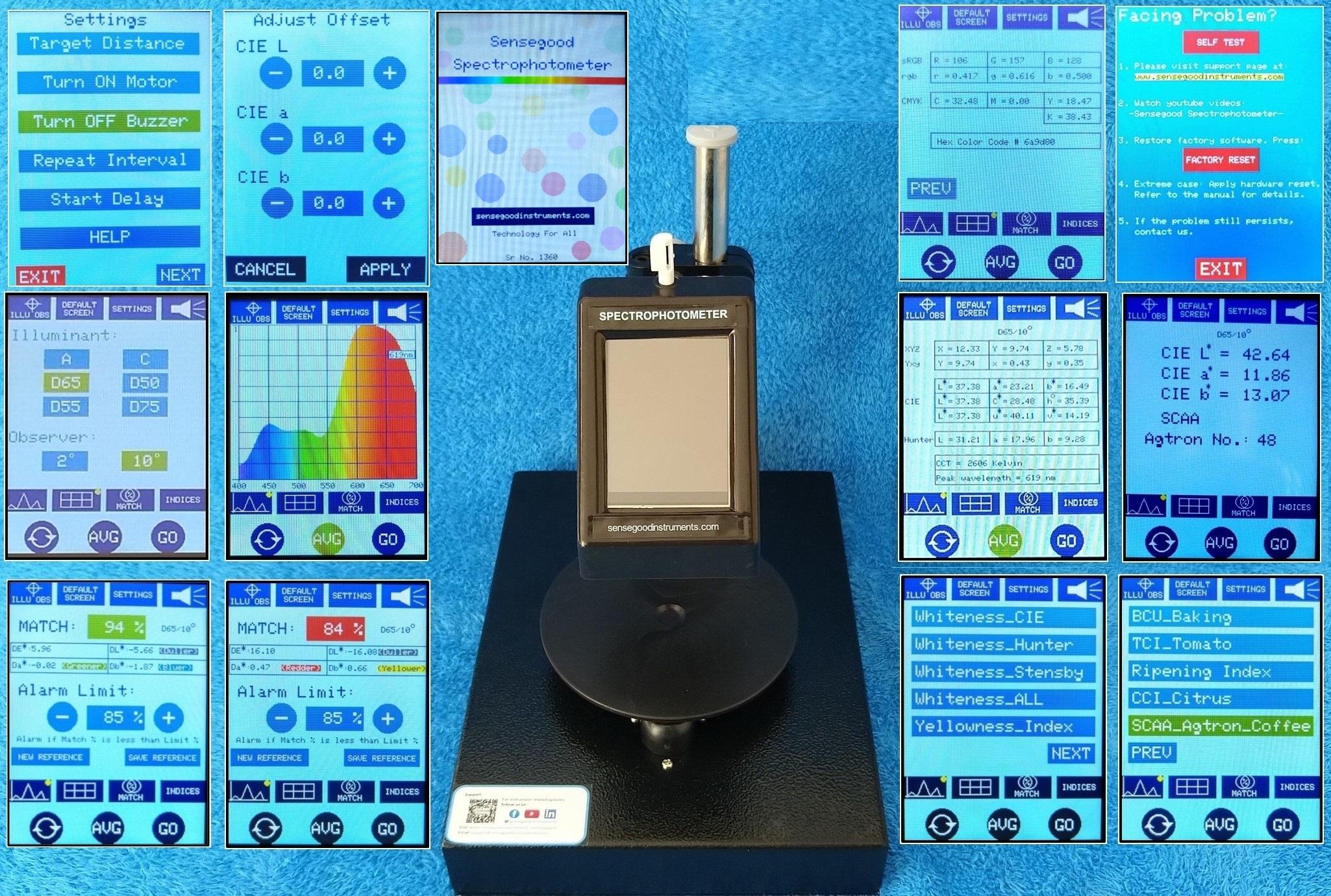Sensegood Spectrophotometer For Color Measurement