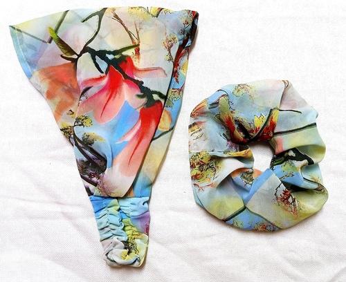 As Per Pic Flower Printed Fancy Headband