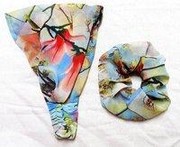 Flower Printed Fancy Headband