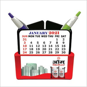 Pen Stand With Calander