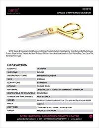 Gauge & Bandage Scissor