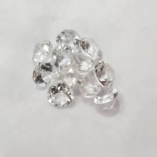 5mm White Topaz Faceted Heart Loose Gemstones