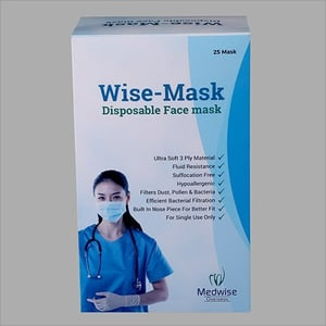 Disposable Paper Face Mask Packaging Box