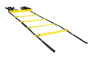 BELCO Sports Agility Ladder Agility Training Ladder Speed Flat Rung with Carrying Bag