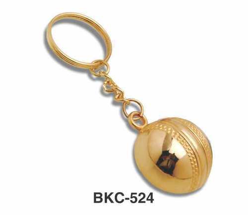 Cricket Ball Keychain