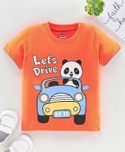 Half Sleeves Tee Panda Print