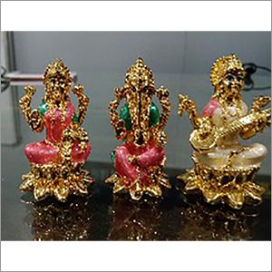 Pearl Finish Ganesh Laxmi Saraswati