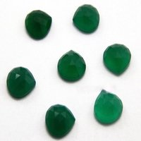 12mm Green Onyx Faceted Heart Loose Gemstones