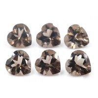 10mm Smoky Quartz Faceted Heart Loose Gemstones