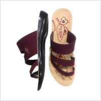Ladies Designer PU Slipper