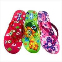 Ladies Designer Print Rubber Slipper